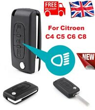 CITROEN C4 GRAND PICASSO 3 Button (Light symbol) Flip Remote Key Fob Case+ Blade