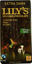 Lily's  Dark Chocolate with Stevia Sweetened Extra Dark Bar, 2.8 Oz (4 Bars)