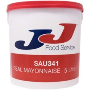 JJ Real Mayonnaise x5L Restaurant Takeaway Fast Food Fish Chips SAU341