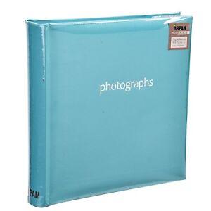 6x4'' Slip In Memo Plain Pastel Photo Album For 200 Holds,Black/Blue/Pink/Purple