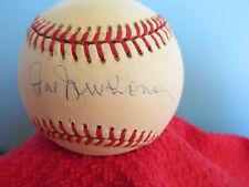 HAL NEWHOUSER  Autographed/Signed Amercan League Baseball  HOF 1992
