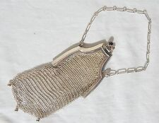 WHITING & DAVIS STERLING SILVER VINTAGE MESH ART DECO CHILD'S PURSE COIN HANDBAG