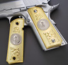 1911 Grips cachas PISTOL GRIPS Full Size 45 Commander Mexican eagle Gold