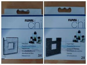 3 Fluval Chi Filter Pads A1424 & 2 Foam Pads A1425 for fish tank. YOU CHOOSE