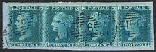 1858 2d Blue Plate 8 SG45 KB-KE Irish CORK '156' Cancel VFU Cat.£180.00+