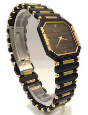 BULOVA  OROLOGIO UNISEX PVD NERO E PLACCATO ORO  WATCH WOMAN GOLD NUOVO