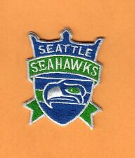 OLD LOGO SEATTLE SEAHAWKS SHIELD PATCH UNUSED STOCK IRON ON SHIRT HAT BABY ITEMS