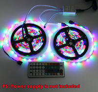10m 2x5M 3528 SMD RGB 600 LED Strip light string tape+44 Key IR remote control