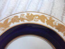 """Wedgwood cobalt blue Whitehall bone china 6"""" bread plate W4200"""