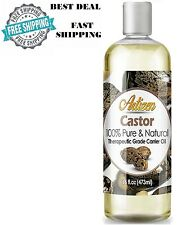 Aceite De Ricino Castor Para El Cabello La Piel y Pestañas Cejas 100% Pure Oil