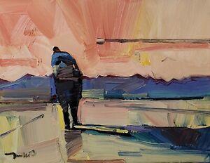 JOSE TRUJILLO Oil Painting IMPRESSIONISM CONTEMPORARY FIGURE WALKING LANDSCAPE
