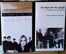 LA OREJA DE VAN GOGH - AMAYA MONTERO X2 VHS CONCIERTOS LIVES, CLIPS, ENTREVISTAS
