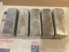 3 Pounds (total weight) Aluminum Bullion Bars / Ingots - Hand Poured - 5 Bars
