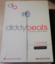 Monster Beats By Dre Diddy Beats In-Ear Headphones w/ Control Talk -White-Sealed