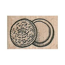Mounted Rubber Stamp, Oreo Cookie, Sandwich Cookie, Oreo Separated, Snack Food