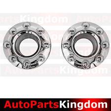 "05-17 Ford Super Duty DUALLY Chrome 17"" 8 Lug FRONT Wheel Center Hub Cap 1 PAIR"