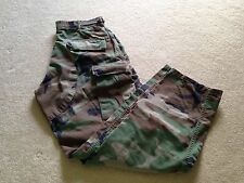 US Army Issue Combat BDU Woodland Camouflage Pants Size Small-Regular