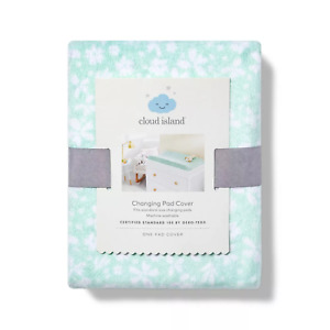 Cloud Island Changing Pad Cover Mint Ditsy Floral