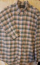 Vintage RALPH LAUREN Polo Plaid Check Mens Button Shirt  Sz XL LOW WORLD SHIP!