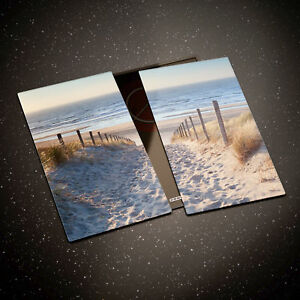 Tempered Glass Chopping Board Cooker Hob Cover Protect Beach Ocean Sea Dust 0333