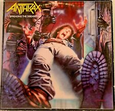 Anthrax ‎– Spreading The Disease LP 1985 Megaforce Worldwide 90480-1 VG Thrash