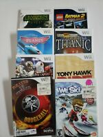 Nintendo WII Games (lot of 8)  Football,  Ski, Adventure and More Tested/Works