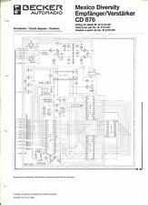 Becker Original Service Schaltplan für Mexico Diversity CD 876
