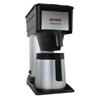 BUNN Coffee Maker Velocity Brew 10-Cup Black Stainless Steel Dishwasher-Safe