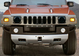 Fits 03-10 Hummer H2 SUT SUV Smoke GTS Acrylic Headlight Covers Pair NEW GT0899S