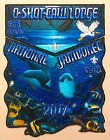 OA O-SHOT-CAW LODGE 265 SOUTH FLORIDA 2017 JAMBOREE FLAP FISH WYLAND ART 2-PATCH