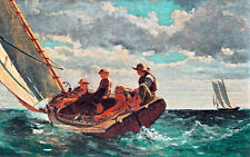 Breezing Up A Fair Wind by Winslow Homer 75cm x 47cm Canvas Art Print Wall Art