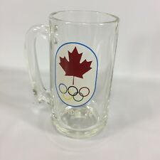 Olympic Glass 1976 Montreal Canada Olympic Games Glass Mug Stein Vintage