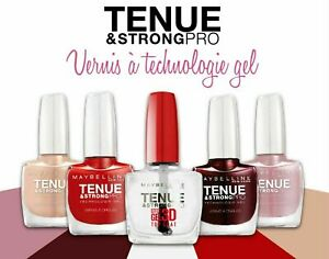 MAYBELLINE Tenue and Strong Pro Technology Gel Nail Polish  Choose Shade