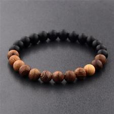 Natural Wood Buddha Bead Meditation Prayer Yoga Bracelets Jewelry Gift S3