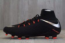 20 Nike HyperVenom Phatal III DF FG 3 Soccer Cleats Black Sz 8-11.5 852554 001