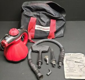 Scunci Portable Handheld Steamer Model SS-1000 4 Attachments With Bag Not Tested