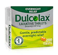 200 Dulcolax Laxative Tablets (bisacodyl USP 5mg), BNIB and Sealed, EXP 07/20