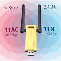 1200Mbps RTL8812AU 802.11AC USB 3.0 Dual Band 2.4GHz&5.8GHz WIFI Adapter Antenna