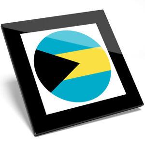 1 x Beautiful Republic Of Bahamas Map Glass Coaster - Kitchen Student Gift #9048