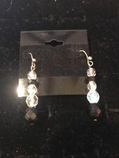 "Toned Earrings $29 (Dc) Premier Designs ""Society"" Black/Silver"