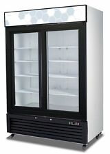 Migali C-49RS UPRIGHT REACH IN TWO (2) SLIDING GLASS DOOR COOLER - WARRANTY