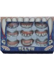 Halloween Fancy Dress Pack of 9 Assorted Teeth Fangs Vampire New by Smiffys