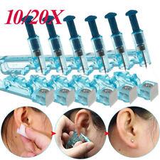 10/20X Disposable Ear Piercing Pierce Gun Stud Tool Earring Kit Piercer Studs