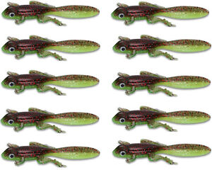 30PCS Soft Fishing Lures Frog Silicone Jigs Soft Plastic Worm Trout 3.5g Wobbler