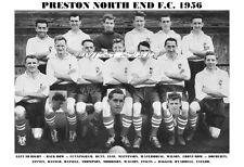 PRESTON NORTH END F.C.TEAM PRINT 1956 (FINNEY / WALTON / MORRISON / ELSE)