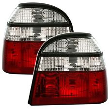2 FEUX ARRIERE VW GOLF 3 3 5 PORTES 11/1991 A 9/1997 BLANC ROUGE CRISTAL