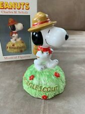 New ListingVintage Peanuts Snoopy Beagle Scout Willitts Ceramic Music Box