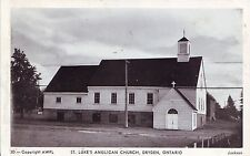 Canada Dryden Ontario St. Luke's Anglican Church old unused real photo postcard