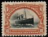 USA: 1901 10c US Stamp Scott # 299, Fast Ocean Navigation, Mint og hinged