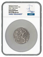 2018 BIO Mythical Creatures Siren UHR 2 oz Silver Antiqued NGC PF69 ER SKU53701
